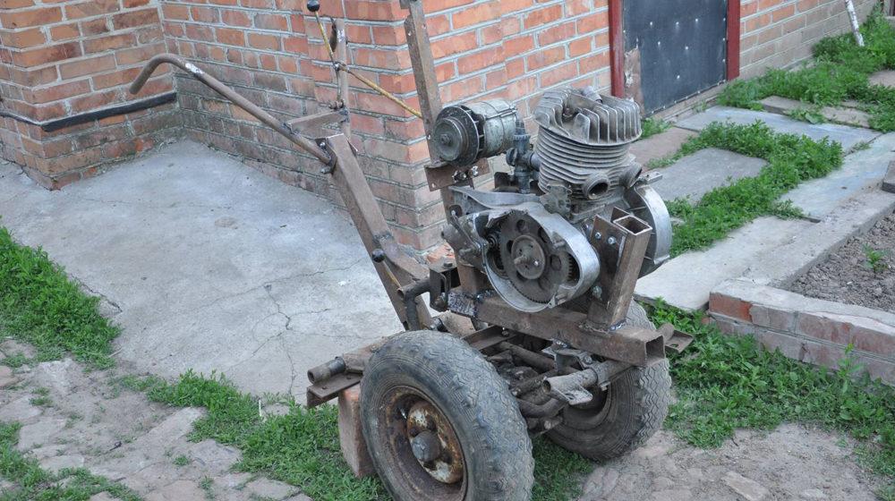 Минитрактор с двигателем от москвича своими руками 170
