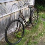 Рама и колеса со старого велосипеда