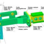 Схема элемента крепления плуга