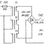 Принципиальная электрическая схема питания двигателя культиватора