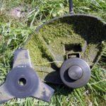 Срезание тонкой травы леской