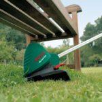 Преимущество садового триммера в стрижке труднодоступных мест