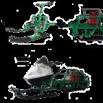 Установка лыжного модуля на мотобуксировщик