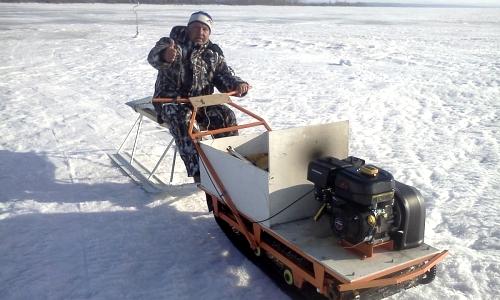 Самодельный зимний мотопогрузчик