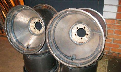 Самодельные диски на шины низкого давления