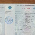 Подготовка паспорта транспортного средства
