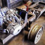 Установка двигателя минитрактора на основание