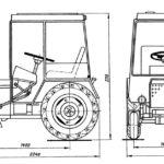 Размеры трактора с кабиной