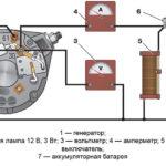Схема соединений для проверки генератора