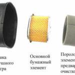 Воздушный фильтр мотоблока с защитой