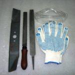 Заточка ножей газонокосилки напильником