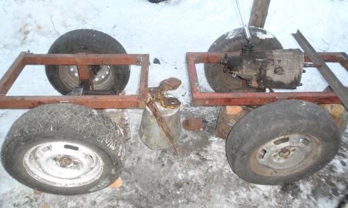 Рама самодельного трактора